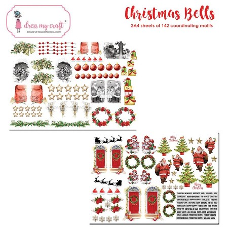 Dress My Craft - Christmas Bells Motif Sheets