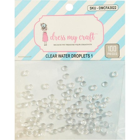 Dress My Craft - Clear Water Droplets #1 (4mm)