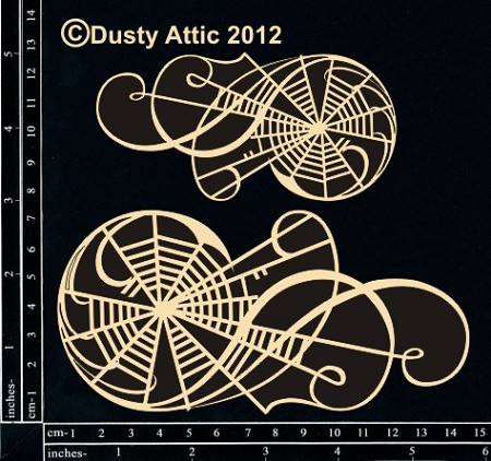 Dusty Attic Chipboard - Web Flourish