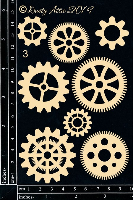 Dusty Attic Chipboard - Cogs #3