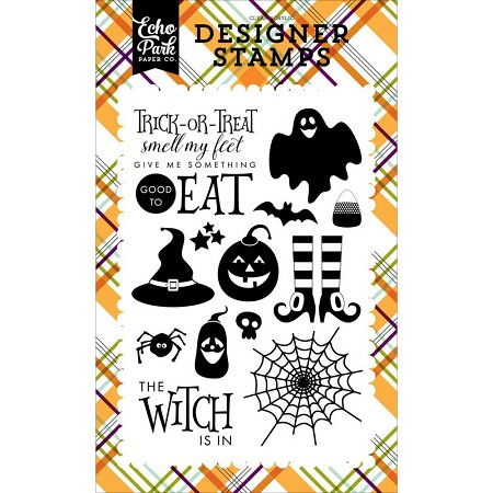 Echo Park - Halloween Collection - The Witch Is In Clear Stamps