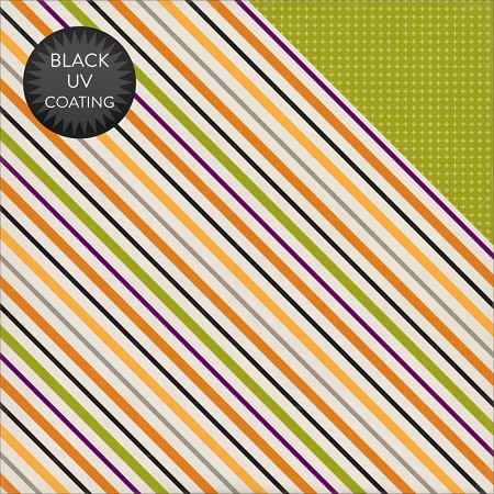 "Echo Park - Halloween Collection - 12""x12"" Cardstock - Stripes"