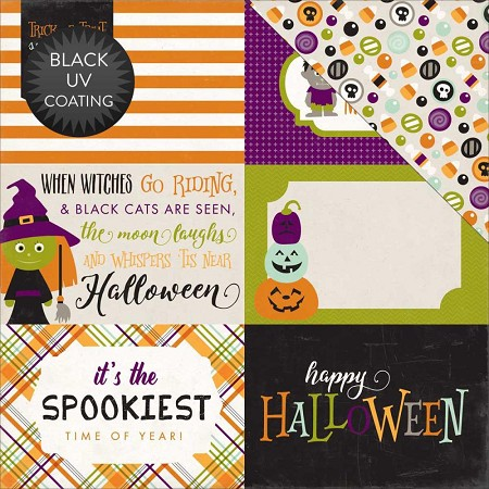 "Echo Park - Halloween Collection - 12""x12"" Cardstock - Journaling Cards 4x6"