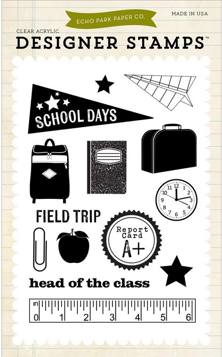 Echo Park - Designer Clear Stamps - School Days