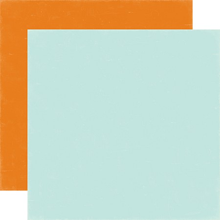 "Echo Park - Meow Collection - 12""x12"" Cardstock - Light Blue / Orange"