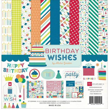 Echo Park - Birthday Wishes Collection - Boy Collection Kit