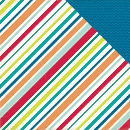Echo Park - Birthday Wishes Collection - Boy Stripes