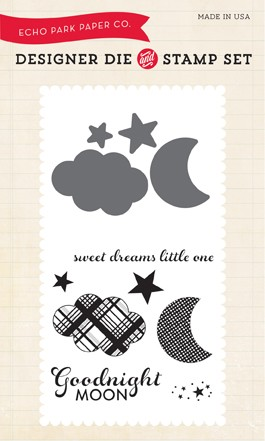 Echo Park - Bundle Of Joy A New Addition Collection - Goodnight Moon Die & Clear Stamp Set :)
