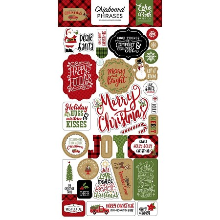 Echo Park - Celebrate Christmas Collection - 6x12 Chipboard Phrases