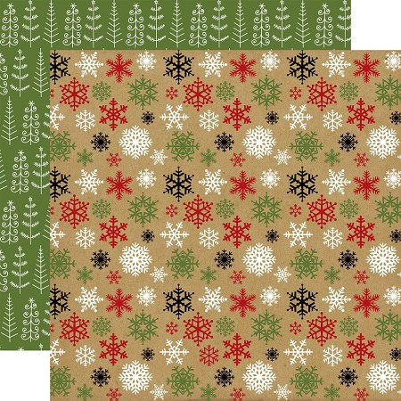 "Echo Park - Celebrate Christmas Collection - 12""x12"" Cardstock - Cold Outside"