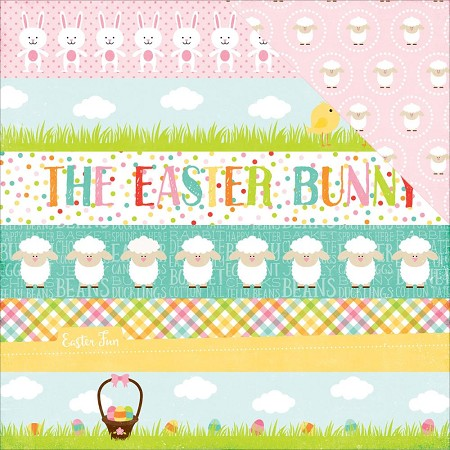 "Echo Park - Celebrate Easter Collection - 12""x12"" Cardstock - Border Strips"