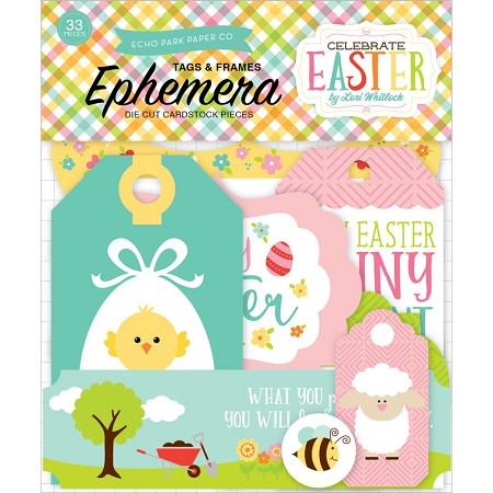 Echo Park - Celebrate Easter Collection - Die Cut Tags & Frames