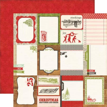 "Echo Park Paper - This & That Christmas Collection by Lori Whitlock - 12""X12"" Paper - Journaling Cards"