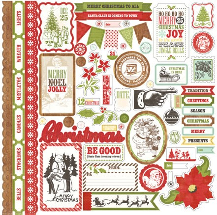 "Echo Park Paper - This & That Christmas Collection by Lori Whitlock - 12""x12"" Sticker Sheet - Element"