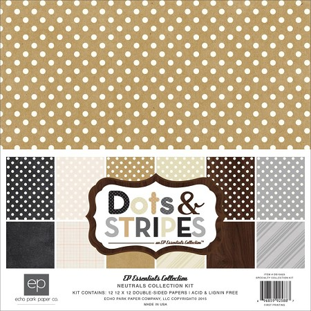Echo Park - Dots and Stripes Collection - Neutrals Collection Kit