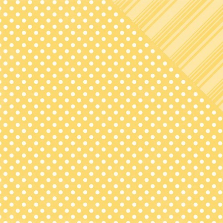 Echo Park - Dots and Stripes Collection - Spring Canary