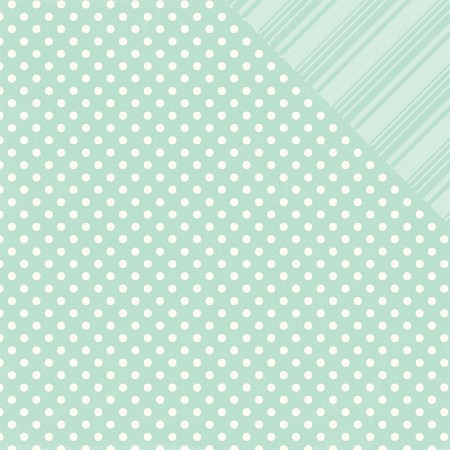 Echo Park - Dots and Stripes Collection - Spring Robin's Egg