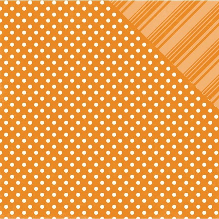 Echo Park - Dots and Stripes Collection - Summer Orange