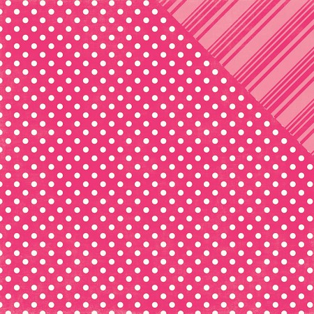 Echo Park - Dots and Stripes Collection - Brights Hot Pink