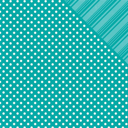 Echo Park - Dots and Stripes Collection - Brights Aqua