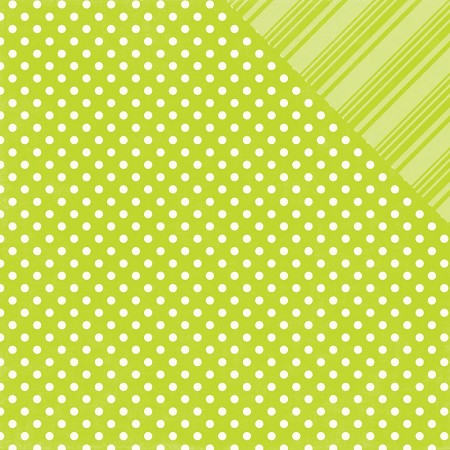 Echo Park - Dots and Stripes Collection - Brights Lime