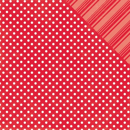 Echo Park - Dots and Stripes Collection - Brights Ladybug