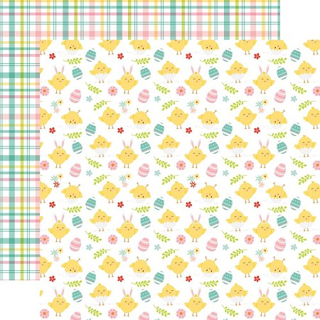 "Echo Park - Easter Wishes Collection - Cute Chicks - 12""x12"" Cardstock"