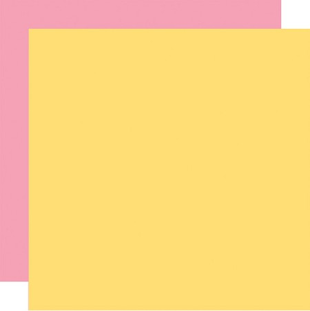 "Echo Park - Easter Wishes Collection - Pink/Yellow - 12""x12"" Cardstock"
