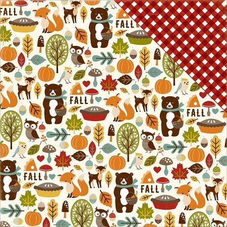 "Echo Park - Fall Is In The Air Collection - 12""x12"" Cardstock - Fall Friends"