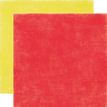 Echo Park-Happy Days-Paper-Red/Yellow Distressed