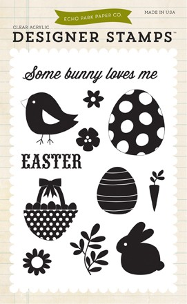 Echo Park - Happy Easter Collection - Clear Stamps