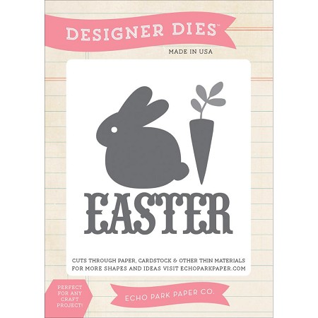 Echo Park - Happy Easter Collection - Designer Die - Easter Bunny :)