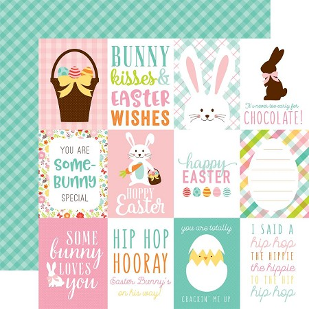 "Echo Park - Hello Easter Collection - 12""x12"" Cardstock - 3""X4"" Journaling Cards"