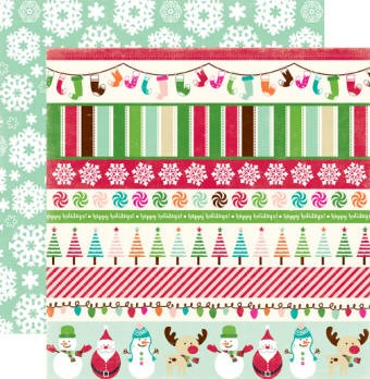 Echo Park - Holly Jolly - Paper-Jolly Border Strips