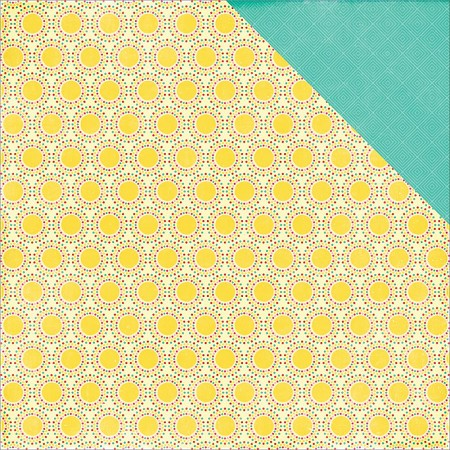 "Echo Park - I Love Sunshine Collection - 12""x12"" Cardstock - Sun Beams"