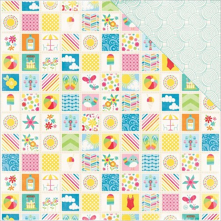 "Echo Park - I Love Sunshine Collection - 12""x12"" Cardstock - Summer Memories"