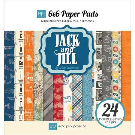 "Echo Park - Jack and Jill Boy Collection - 6""x6"" Paper Pad"