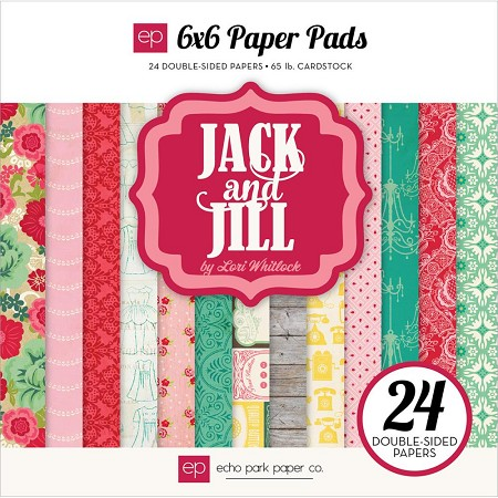 "Echo Park - Jack and Jill Girl Collection - 6""x6"" Paper Pad"