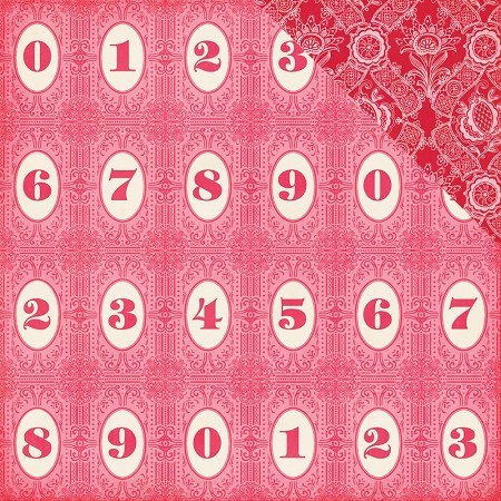 "Echo Park - Jack and Jill Girl Collection - 12""x12"" cardstock - Number Circles"