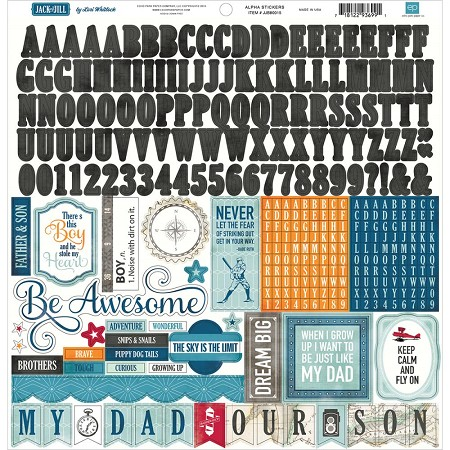 "Echo Park - Jack and Jill Boy Collection - 12""x12"" Alphabet Sticker Sheet :)"