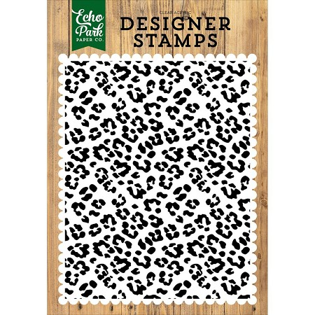 Echo Park - Jungle Safari Collection - Cheetah Print A2 Clear Stamp
