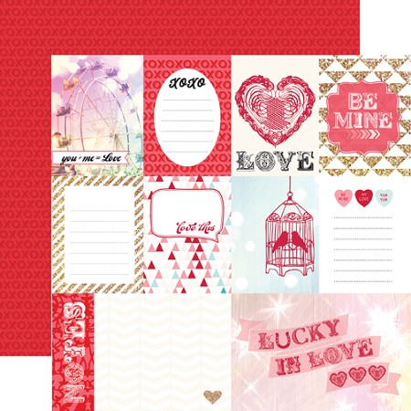 "Echo Park - Lucky In Love Collection by Allison Kreft - 12""x12"" cardstock - Love This"
