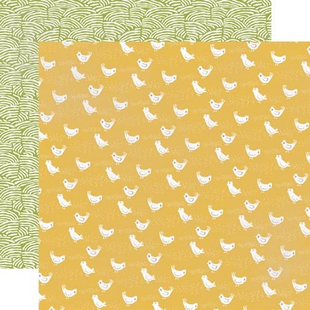 "Echo Park - Made From Scratch Collection - 12""x12"" double sided cardstock - Cheerful Chickens"