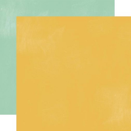 "Echo Park - Made From Scratch Collection - 12""x12"" double sided cardstock - Yellow / Teal"