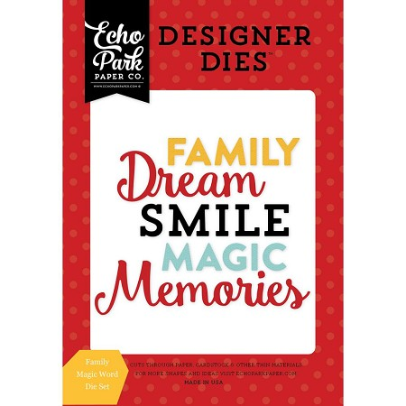 Echo Park - Designer Dies - Magical Adventure - Family Magic Words