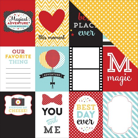 "Echo Park - Magical Adventure Collection - 12""x12"" Cardstock - Journaling Cards 3x4"