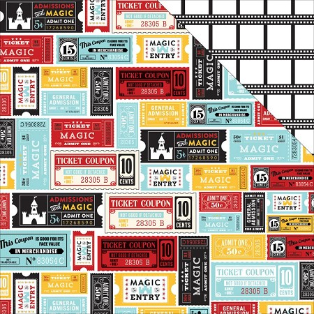 "Echo Park - Magical Adventure Collection - 12""x12"" Cardstock - Magical Tickets"
