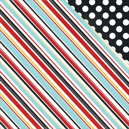 "Echo Park - Magical Adventure Collection - 12""x12"" Cardstock - Silly Stripes"