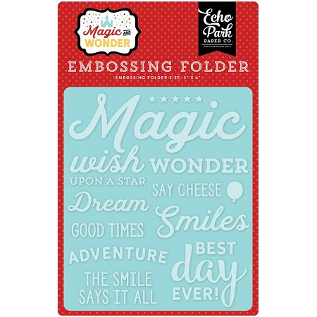Echo Park - Embossing Folder - Magic and Wonder - Wish Upon A Star