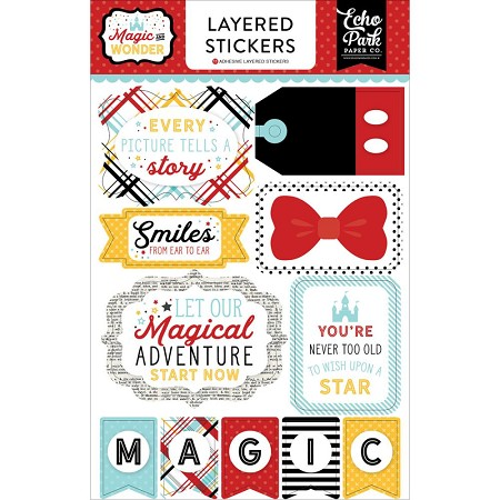 Echo Park - Magic and Wonder Collection - Layered Stickers